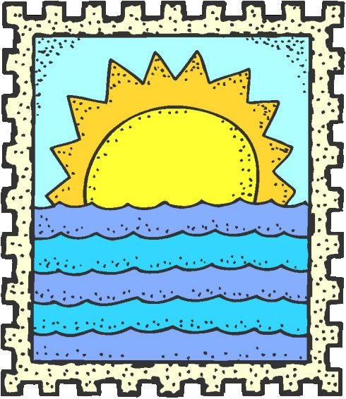 sunset on the beach clip art